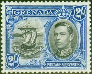 Grenada 1938 2s Schwarz & Ultramarinblau SG161 Fein Leicht MTD Mint