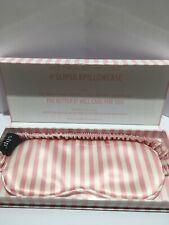 SLIP Pure Silk Sleep Mask BNWB #Pink Stripe Authentic