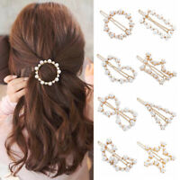 Metal Hair Styling  Women Pearls Hairpins Hair Clips Hairgrip Barrettes