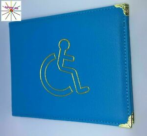 Disabled Badge Holder Cover Protector Wallet PU Leather Safe Parking Permit