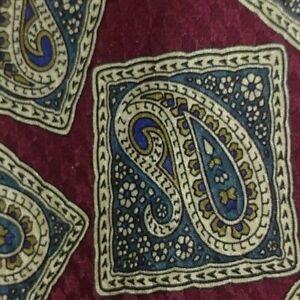 Red Paisley CERRUTI Silk Tie
