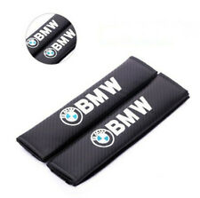 2PCS BMW Auto Interior Carbon Fiber Car Seat Belt Pads Covers Shoulder Cushion