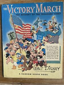 Vintage 1942 Disney The Victory March Disney Mystery of the Treasure Chest Book