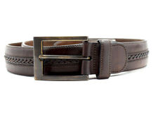 Mezlan Handmade Original Mens Leather Belt Brown Size 36