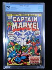 Captain Marvel #28     CBCS 7.0     White Pages     Avengers and Thanos Cover