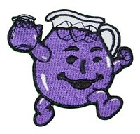 HEY KOOL-AID MAN Logo Iron on or Sew on Patch Emblem PURPLE Koolaid Embroidered