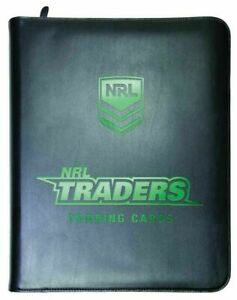 2020 NRL Traders Rugby League Trading Cards Album Folder Binder with 30 Pages