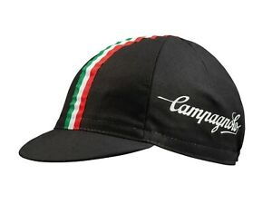 NEW Campagnolo Classic Cycling Cap Black  - Ideal Cyclist Gift - Made in Italy