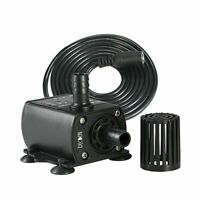 Ultra Quiet Mini DC 12V 10W 400L/H Brushless Motor Submersible Pool Water Pump