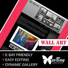 BEST Professional eBay Listing Auction Template Custom WALL ART 85b HTML Design
