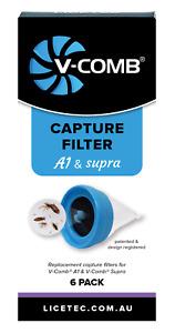 LICETEC V-COMB A1 AND SUPRA CAPTURE FILTERS - 6 PACK