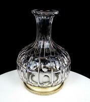 """BRILLIANT CUT CRYSTAL SILVER FOOTED THUMBPRINT DECANTER SHAPE 7 3/4"""" TABLE LAMP"""