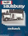Fire Equipment Brochure - Saulsbury - Mohawk Tanker - Portland (DB142)