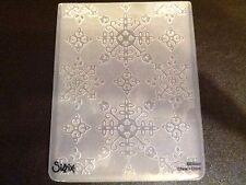 Sizzix Grand Gaufrage dossier Noël Santa Lucia flocons de neige 4.5x5.75in