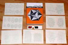 REGULÄRE FIGUREN Anaglyphen 3D-Brille Mathematik Platonische Köper Stereoskopie