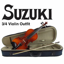 Suzuki FS-10 Nagoya 3/4 Size Violin Outfit Package! With Pro Setup!