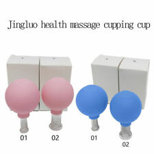 2 x Vacuum Cupping Massage Body Face Facial Suction Anti Cellulite Cups Massage