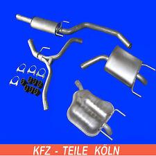 kit de montaje escape Opel Vectra C 2.0 16v sistema de escape 2x endschalldämpfer