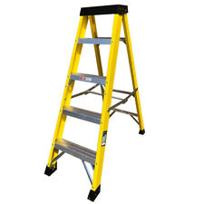 Electricians Heavy Duty Tread EN131 Fibreglass Step Ladder 30000v - 4-10 Tread