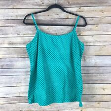 French Laundry Womens Top Cotton Stretch Knit Tank Semi Fitted Cami Size 18 20