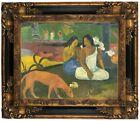 Gauguin Joyfulness 1892 Wood Framed Canvas Print Repro 11x14