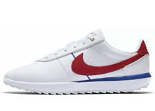 Nike Cortez Women's Golf Shoes CI1670-100 Size 10 White Red Blue Forest Gump