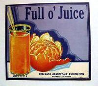 1950s Swallow Bird Grape Fruit Crate Label