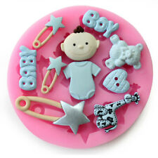 Baby Bear Heart Star Shape Cake Decoration Mold Silicone Fondant Soap Mold