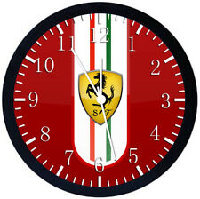 Ferrari Super Car Black Frame Wall Clock Nice For Decor or Gifts Z189