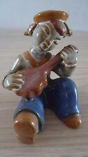 Vintage Ceramic Figure Playing Instrument Banjo ?