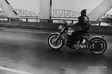 Crossing the Ohio Danny Lyon Poster Black & White Bridges Motorcycles 30x20
