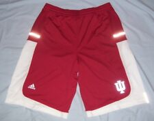 Indiana Hoosiers Adidas Climalite Basketball Shorts Red and White Women's XL