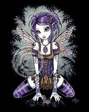 Fairy Dragonfly Water Gothic Purple Art Signed Print Addison Myka Jelina