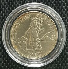 1966 CENTRAL BANK OF THE PHILIPPINES 25 Centavos Coin Ø 23mm(+FREE1 coin)#10150