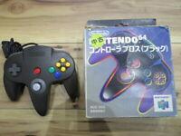 Nintendo 64 Controller Black w/box N64 Japan m81