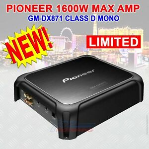 PIONEER GM-DX871 CLASS D MONO AMPLIFIER - 1600 WATTS MAX VARIABLE LPF NEW!