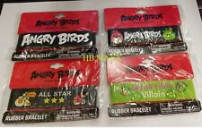 10 pieces Associated of Angry Birds Rubber Bracelet Perfect for Gifts Brand New