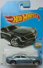 2017 Hot Wheels FACTORY FRESH 5/10 Cadillac Elmiraj 105/365 (Gun Metal Blue)