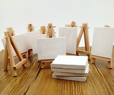 """Lot of 10 Blank Canvas and Display Easel, Great for Wedding Name Board 2.5x3.25"""""""