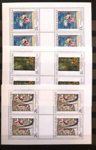 Tschechische Republik 1999, Mi. Nr. 236,237,238 - Kleinbogensatz, postfrisch