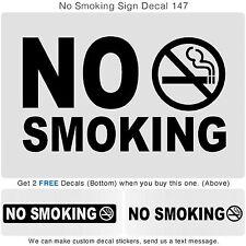 NO SMOKING Door Sign Car Sticker Vinyl glass Window Outside Inside Art Decal 147