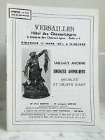 Catálogo De Venta Versailles Pizarras Antiguos Baño N º 1 13 Mars 1977