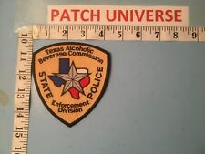 TEXAS ALCOHOLIC BEVERAGE COMMISSION STATE POLICE  SHOULDER PATCH R053
