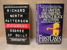 2 Mystery PB. 1 by Sue Grafton & 1 by Richard North Patterson  see Disc