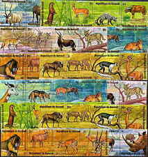 BURUNDI 1975 AFRICAN ANIMALS SET OF 48 STAMPS COMPLETE!