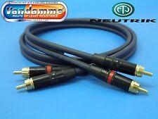 1M RCA/Phono Hi-fi interconexión Cable Van Damme Up-lcofc/Neutrik Rean Enchufes