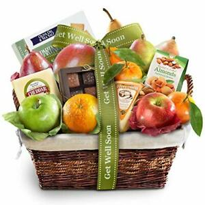 A Gift Inside Get Well Soon Deluxe Fruit Gift Basket