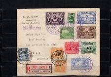 Mischfrankatur auf Scadta R-Brief aus Costa Rica nach Kolumbien 1930