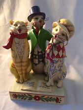 "Jim Shore Heartwood Creek Caroling Cats"" #4010897 Christmas"