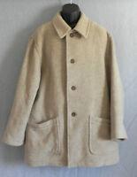 Geoffrey Beene Car Coat Tan Wool Blend Size L